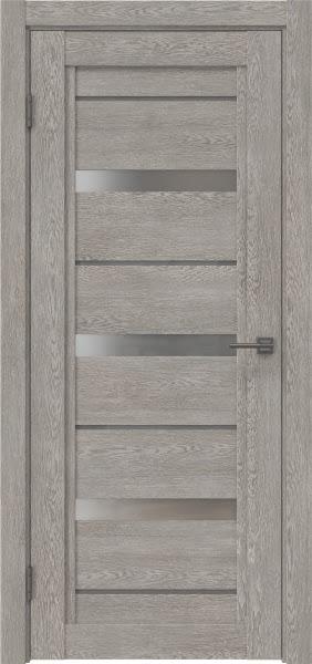 Межкомнатная дверь RM011 (экошпон «дымчатый дуб» / матовое стекло)