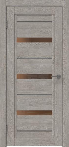 Межкомнатная дверь RM011 (экошпон «дымчатый дуб» / стекло бронзовое)