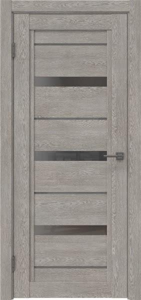 Межкомнатная дверь RM011 (экошпон «дымчатый дуб» / стекло графит)