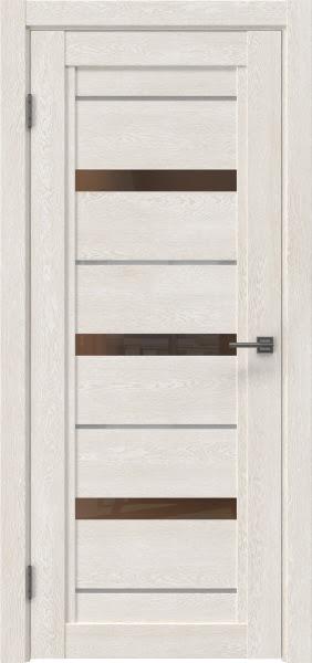 Межкомнатная дверь RM011 (экошпон «белый дуб» / стекло бронзовое)