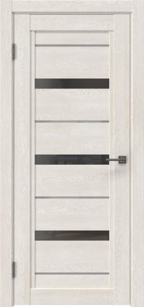 Межкомнатная дверь RM011 (экошпон «белый дуб» / стекло графит)