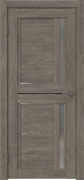 Межкомнатная дверь RM012 (экошпон «серый дуб» / матовое стекло)