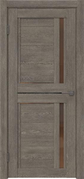 Межкомнатная дверь RM012 (экошпон «серый дуб» / стекло бронзовое)