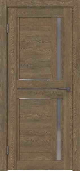 Межкомнатная дверь RM012 (экошпон «дуб антик» / матовое стекло)