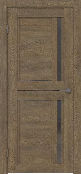 Межкомнатная дверь RM012 (экошпон «дуб антик» / стекло графит)