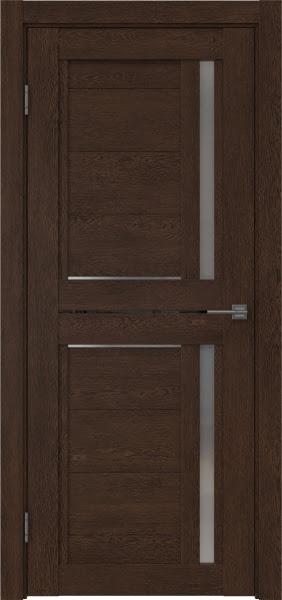 Межкомнатная дверь RM012 (экошпон «дуб шоколад» / матовое стекло)