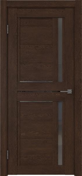 Межкомнатная дверь RM012 (экошпон «дуб шоколад» / стекло графит)