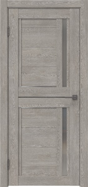 Межкомнатная дверь RM012 (экошпон «дымчатый дуб» / матовое стекло)