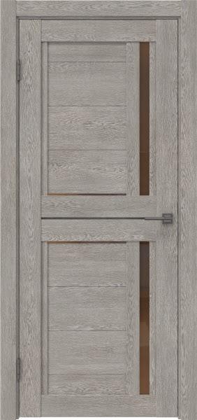 Межкомнатная дверь RM012 (экошпон «дымчатый дуб» / стекло бронзовое)