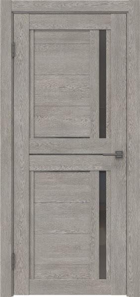 Межкомнатная дверь RM012 (экошпон «дымчатый дуб» / стекло графит)