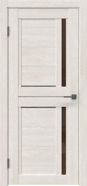 Межкомнатная дверь RM012 (экошпон «белый дуб» / стекло бронзовое)