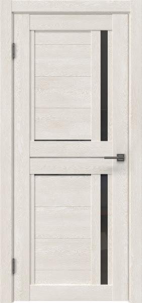 Межкомнатная дверь RM012 (экошпон «белый дуб» / стекло графит)