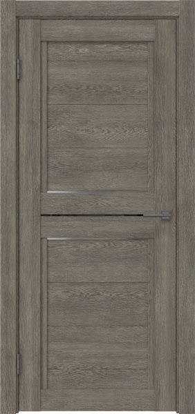 Межкомнатная дверь RM013 (экошпон «серый дуб» / матовое стекло)