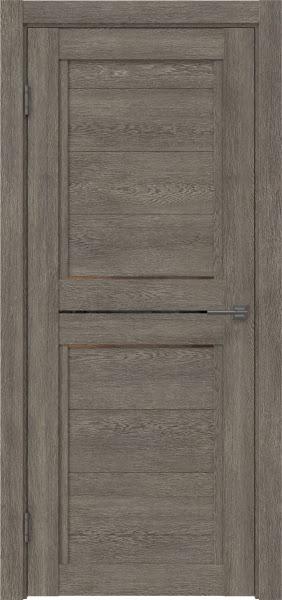 Межкомнатная дверь RM013 (экошпон «серый дуб» / стекло бронзовое)