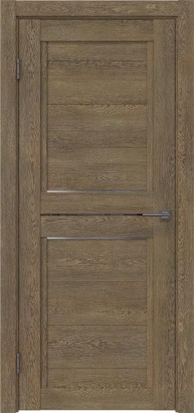 Межкомнатная дверь RM013 (экошпон «дуб антик» / матовое стекло)