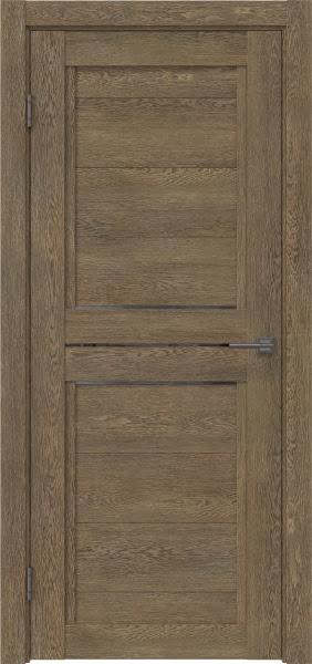 Межкомнатная дверь RM013 (экошпон «дуб антик» / стекло графит)