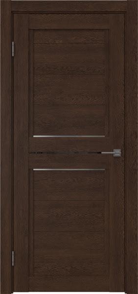 Межкомнатная дверь RM013 (экошпон «дуб шоколад» / матовое стекло)