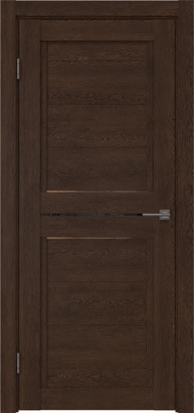 Межкомнатная дверь RM013 (экошпон «дуб шоколад» / стекло бронзовое)