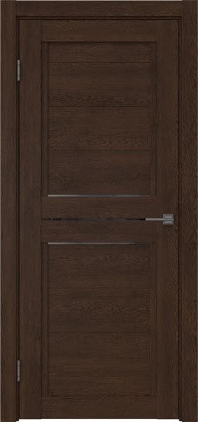 Межкомнатная дверь RM013 (экошпон «дуб шоколад» / стекло графит)
