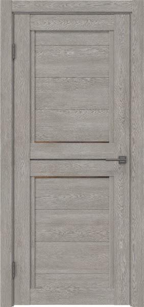 Межкомнатная дверь RM013 (экошпон «дымчатый дуб» / стекло бронзовое)