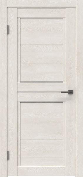 Межкомнатная дверь RM013 (экошпон «белый дуб» / стекло графит)