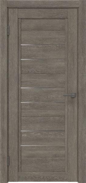 Межкомнатная дверь RM014 (экошпон «серый дуб» / матовое стекло)