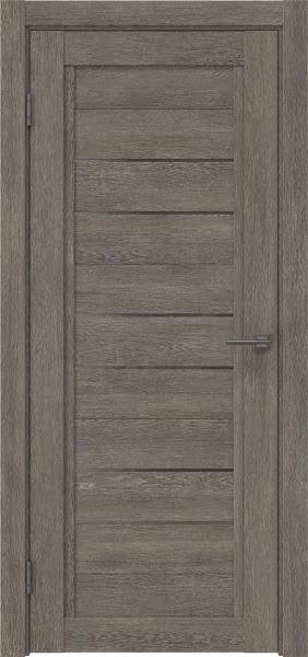 Межкомнатная дверь RM014 (экошпон «серый дуб» / стекло графит)