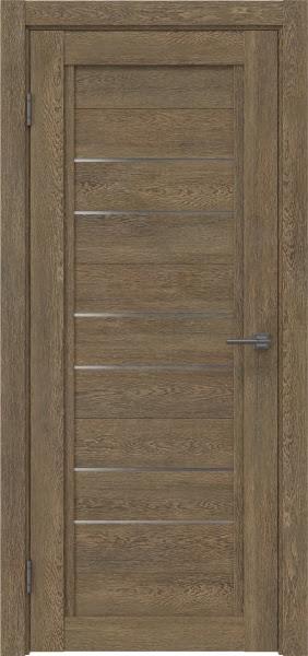 Межкомнатная дверь RM014 (экошпон «дуб антик» / матовое стекло)