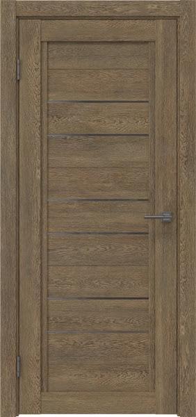 Межкомнатная дверь RM014 (экошпон «дуб антик» / стекло графит)