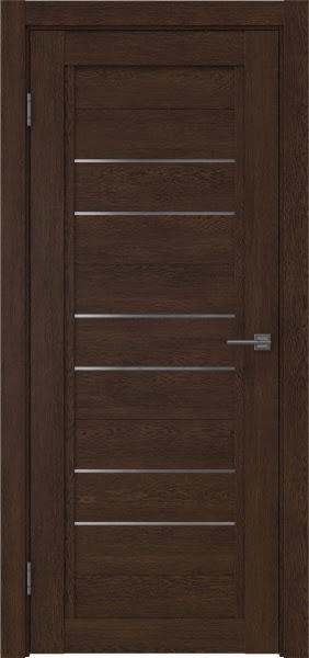 Межкомнатная дверь RM014 (экошпон «дуб шоколад» / матовое стекло)
