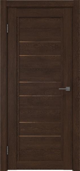 Межкомнатная дверь RM014 (экошпон «дуб шоколад» / стекло бронзовое)