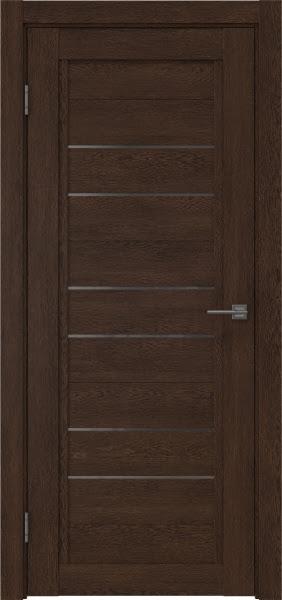 Межкомнатная дверь RM014 (экошпон «дуб шоколад» / стекло графит)