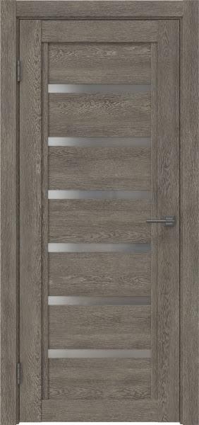 Межкомнатная дверь RM015 (экошпон «серый дуб» / матовое стекло)