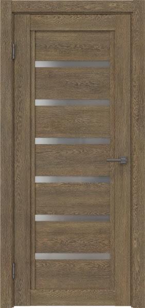 Межкомнатная дверь RM015 (экошпон «дуб антик» / матовое стекло)