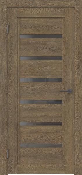 Межкомнатная дверь RM015 (экошпон «дуб антик» / стекло графит)