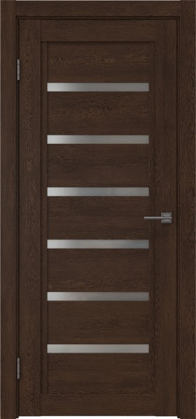 Межкомнатная дверь RM015 (экошпон «дуб шоколад» / матовое стекло)