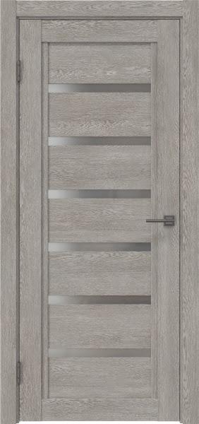 Межкомнатная дверь RM015 (экошпон «дымчатый дуб» / матовое стекло)