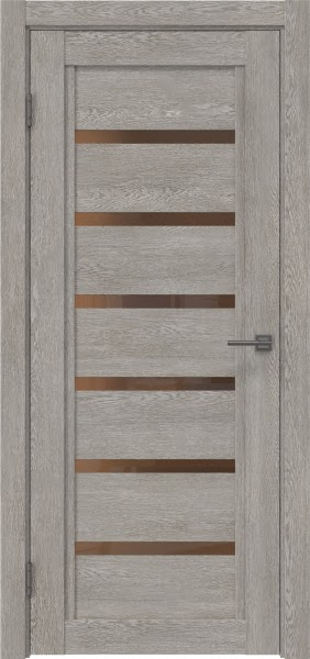 Межкомнатная дверь RM015 (экошпон «дымчатый дуб» / стекло бронзовое)