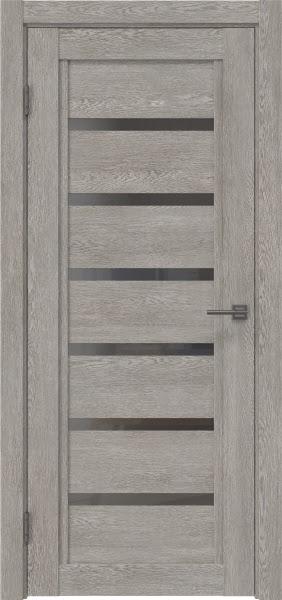 Межкомнатная дверь RM015 (экошпон «дымчатый дуб» / стекло графит)