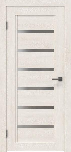 Межкомнатная дверь RM015 (экошпон «белый дуб» / матовое стекло)