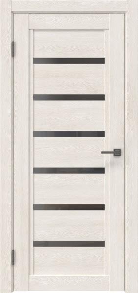 Межкомнатная дверь RM015 (экошпон «белый дуб» / стекло графит)