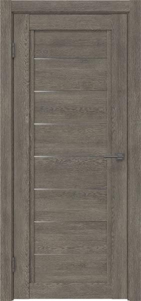 Межкомнатная дверь RM016 (экошпон «серый дуб» / матовое стекло)