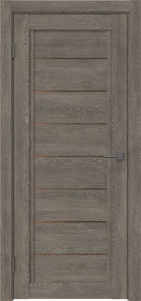 Межкомнатная дверь RM016 (экошпон «серый дуб» / стекло бронзовое)