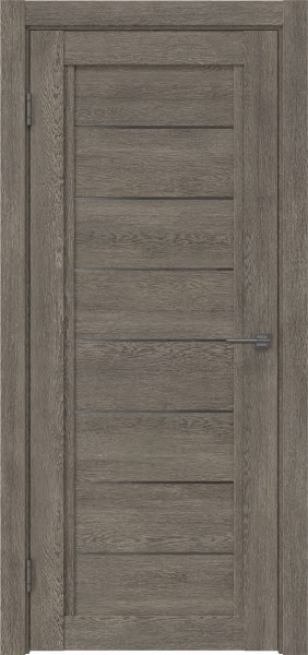 Межкомнатная дверь RM016 (экошпон «серый дуб» / стекло графит)