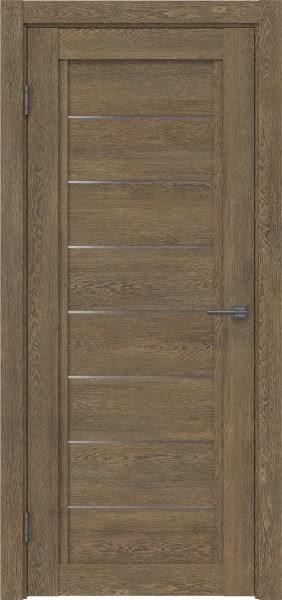 Межкомнатная дверь RM016 (экошпон «дуб антик» / матовое стекло)