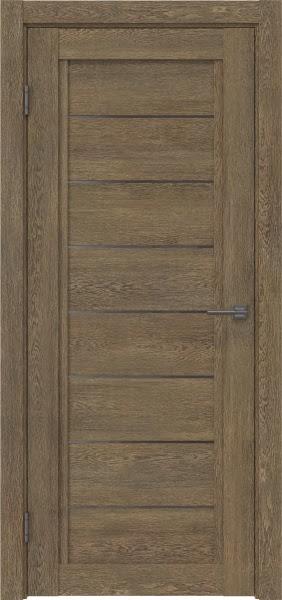 Межкомнатная дверь RM016 (экошпон «дуб антик» / стекло графит)