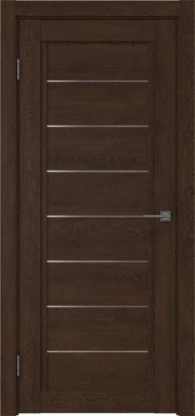 Межкомнатная дверь RM016 (экошпон «дуб шоколад» / матовое стекло)
