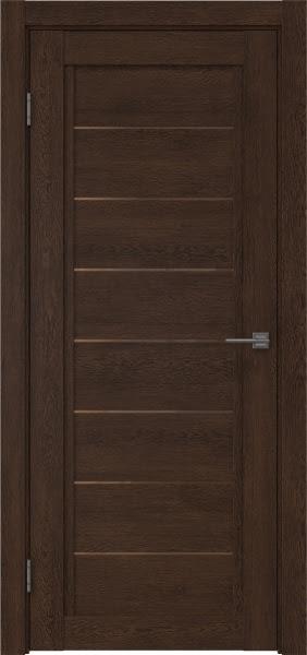 Межкомнатная дверь RM016 (экошпон «дуб шоколад» / стекло бронзовое)