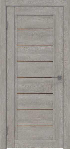 Межкомнатная дверь RM016 (экошпон «дымчатый дуб» / стекло бронзовое)