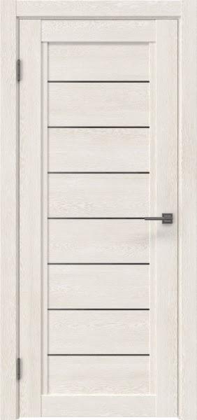 Межкомнатная дверь RM016 (экошпон «белый дуб» / стекло графит)